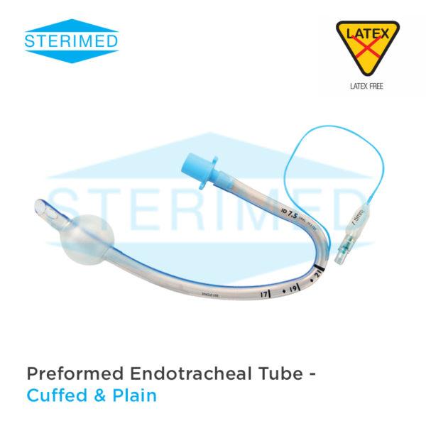 Preformed Endotracheal Tube - Cuffed & Plain