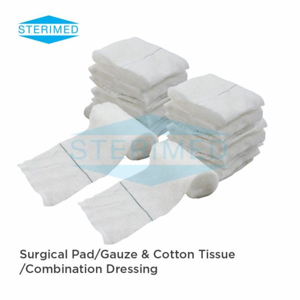 Surgical Pad, Gauze and Cotton Tissue, Combination Dressing