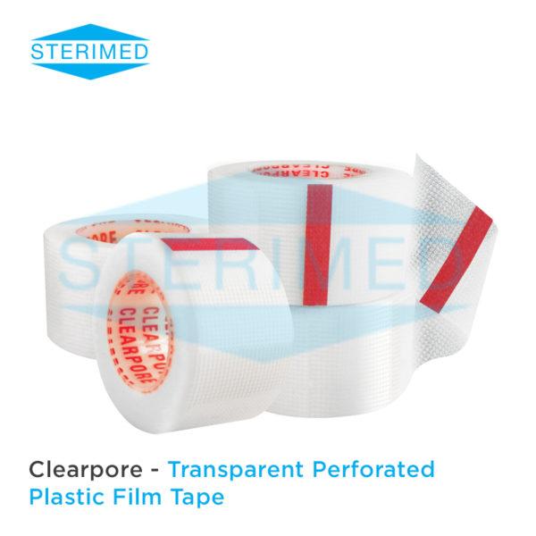 Clearpore Transparent Perforated Plastic Film Tape